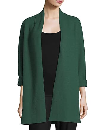 541f5d49c63 Eileen Fisher High-Collar Open-Front Boiled Wool Coat