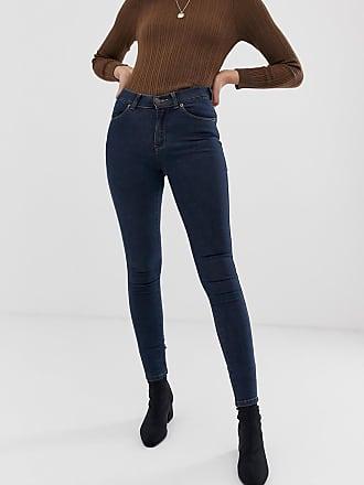Dr. Denim Lexy mid rise second skin super skinny jeans-Blue
