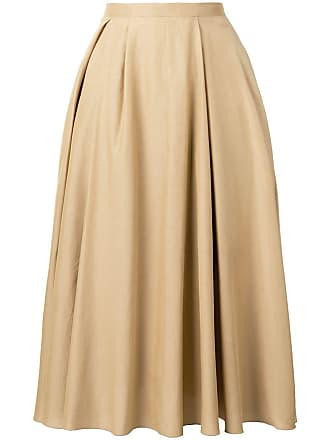 Rochas pleated midi skirt - Neutrals