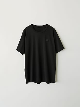 Acne Studios Nash Face Black Short sleeved t-shirt