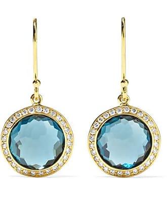 Ippolita Lollipop Mini 18-karat Gold, Topaz And Diamond Earrings