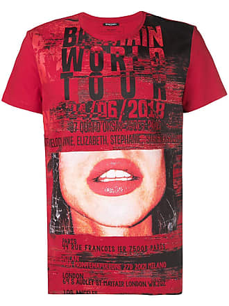 Balmain photo printed T-shirt - Red