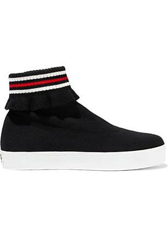 Opening Ceremony Opening Ceremony Woman Bobby Ruffle-trimmed Stretch-knit High-top Sneakers Black Size 37