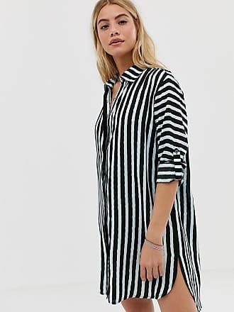 Maaji Full of Dreams long stripe beach shirt in black multi - Multi