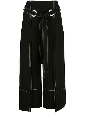Yigal AzrouËl contrast stitching trousers - Black