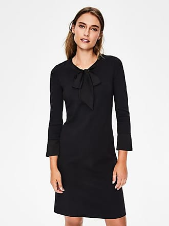 Boden Josie Ponte Dress Black Women Boden