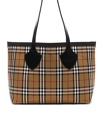 Burberry Reversible Vintage Check Tote in Neutral,Plaid,Red