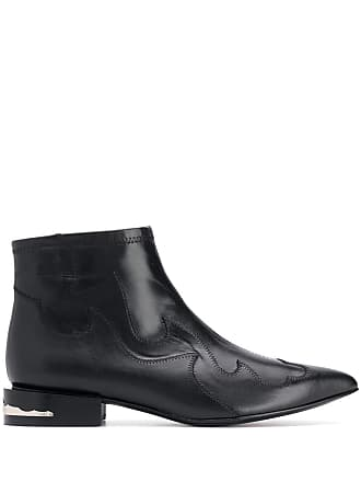 Toga Archives pointed toe western boots - Preto