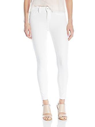 Yummie Tummie Modern Mid Rise Slimming Ankle Denim Jeans, White, 34