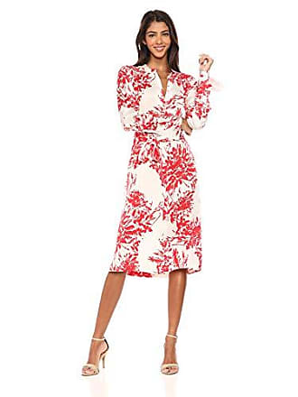 Equipment Womens Floral Print Roseabelle Silk Dress, NTR White BLD Moon, Large