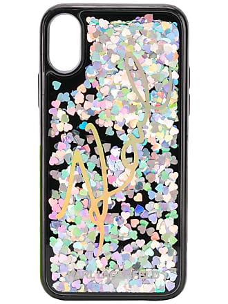 c0e9235c7074 Karl Lagerfeld Cover iPhone X con paillettes liquide - Di Colore Nero