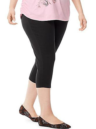 Just My Size Stretch Cotton Jersey Womens Capri Leggings Charcoal Heather 1X