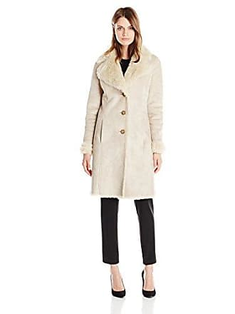 Tommy Hilfiger Womens Long Sherpa Coat with Faux Fur Lining, Sand, X-Large