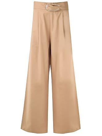Framed Calça pantalona Cotton com pregas - Neutro