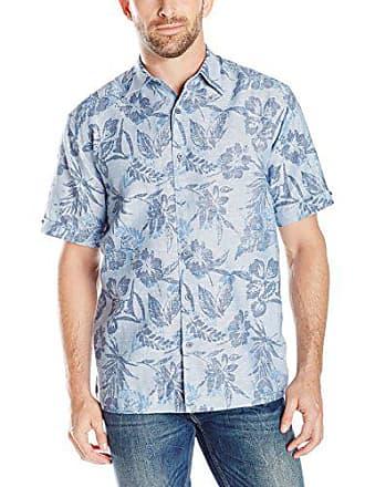 d72681ab4d Cuba Vera Cubavera Mens Short Sleeve All Over Floral Print Woven Shirt