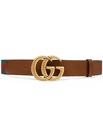 334daa6b6c1 Gucci Web belt with Double G buckle - Brown