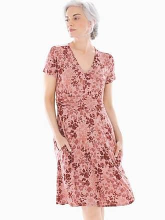 Soma Soft Jersey V Neck Short Dress Dappled Shadow Whiskey, Size XXL