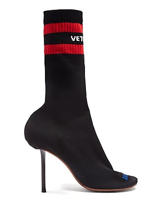 VETEMENTS Black Sexual Fantasies Sock Boots - The Webster