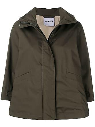 Aspesi zip cropped jacket - Verde