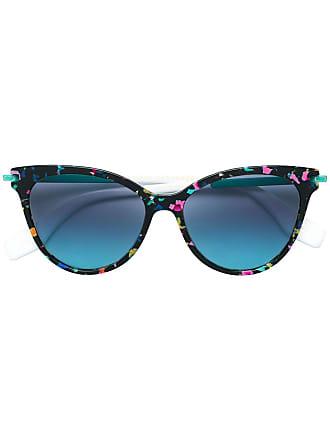 acbf403fd3e95 Marc Jacobs Óculos de sol gatinho estampado - Preto
