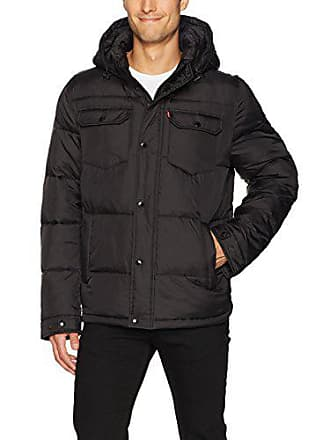 Levi's Mens Quilted Trucker Jacket, Black, Large