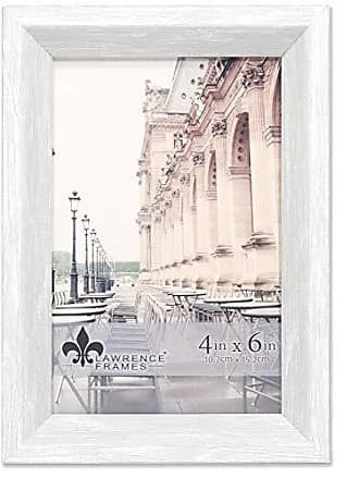 Lawrence Frames 4x6 Bradley Whitewashed Gray Picture Frame, White