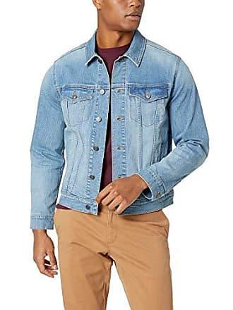 Amazon Essentials Mens Denim Trucker Jacket, Light Blue Wash, XX-Large