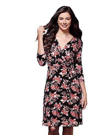 4e9d911502bb1c Yumi Blurred Floral Wrap Dress Black