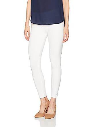 9b47357eb3f106 Hue Womens Ultra Skimmer Leggings with Wide Waistband, White, L
