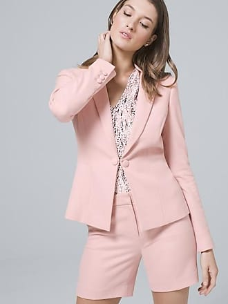 White House Black Market Womens Luxe Suiting Blazer Jacket by White House Black Market, Goddess Pink, Size 10