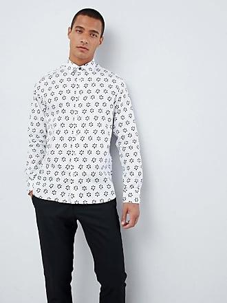 Ted Baker Skjorta med geometriskt blommigt mönster - Vit cd061bc9cb47b