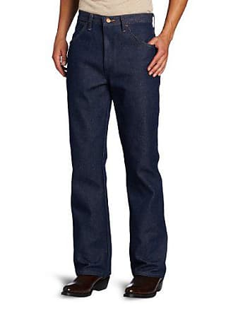 Wrangler Mens Big Western Regular Bootcut Jean, Navy, 44x34