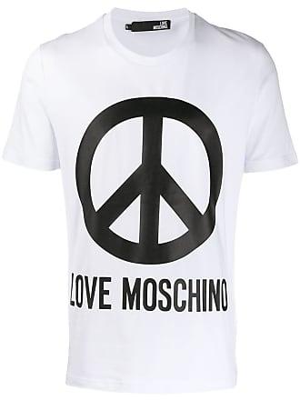 Love Moschino logo print T-shirt - Branco