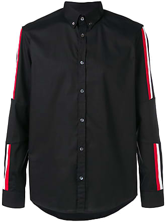 Les Hommes button down stripe detail shirt - Preto
