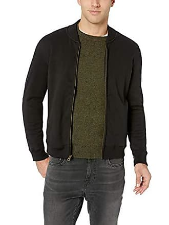 cfa3b93842 Billy Reid Mens Full Zip Dover Bomber Jacket with Leather Elbow Patches