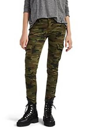 638ecad5e3 NSF Womens The Vincent Camouflage-Print Cotton-Blend Cargo Pants - Green  Size 28
