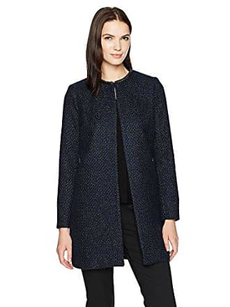9e37e481ca5e T Tahari Womens Jenna Coat in Stargazer, Blue/Black, XL
