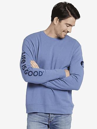 4c08210ee55 Life is good Mens Circle Pine Simply True Crew XXL Vintage Blue