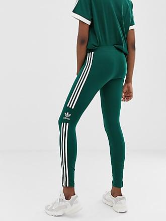 6c30e91974b72 adidas Originals adicolor three stripe trefoil legging in green - Green