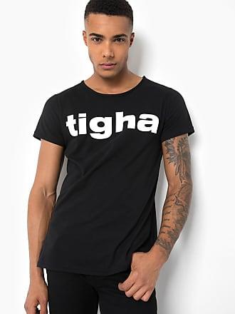 3a11f5b579cc Tigha Herren Print T-Shirt Tigha Logo MSN schwarz (black)