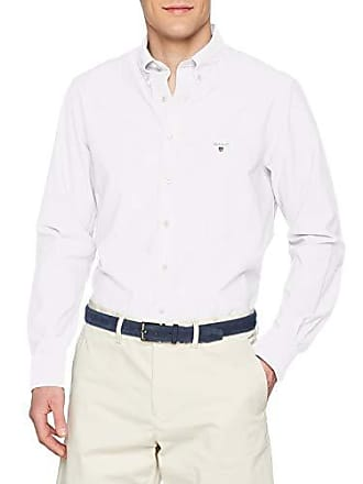 GANT The Broadcloth Reg BD, Chemise Casual Homme, Blanc (White 110), aa0924babd74