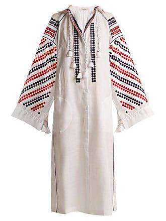 Vita Kin New Tisa Embroidered Mid Weight Linen Dress - Womens - White Multi
