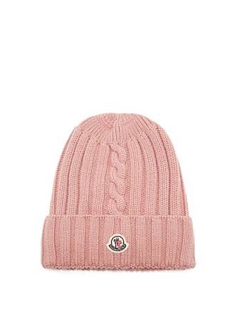 599133a5948 Moncler Ribbed Knit Wool Beanie Hat - Womens - Pink
