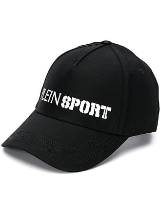 Plein Sport Boné com logo contrastante - Preto