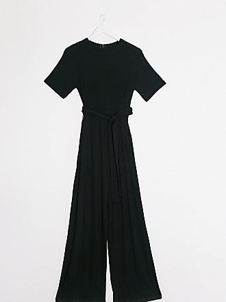 Topshop Maternity ribbed lounge jumpsuit in black