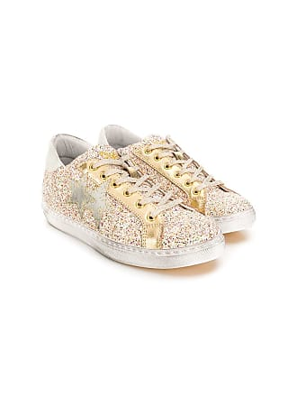 2Star TEEN lace-up sneakers - Dourado