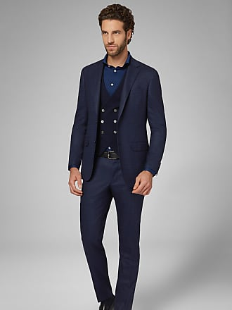 Boggi Milano abito blu anversa in lana stretch