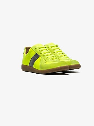 Maison Margiela yellow replica leather low top sneakers