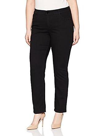 Jones New York Womens Plus Size Lexington Straight Studded, Onyx, 14W