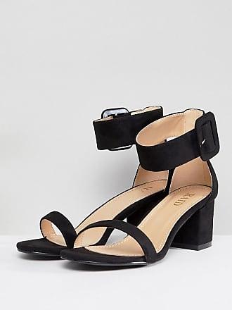 d07a745e16e837 Raid RAID Wide Fit Frances Black Mid Block Heeled Sandals - Black